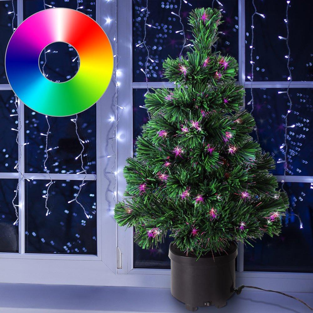 Amazon.de: Deuba Weihnachtsbaum 60cm hoch Farbwechselspiel - 9 ...