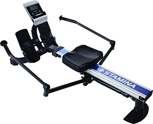 Stamina BodyTrac Glider Rowing Machine 1052 Access to 3 Free Guided Online Workouts Included Stream from Any Device