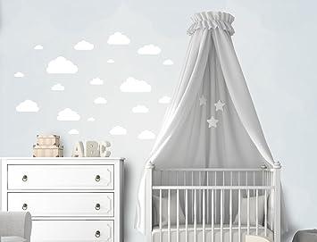 20 Teile Wolken Wandtattoo Kinderzimmer Set - Rauhfaser Wandsticker,  Pastell Farben, Baby Tapete Sticker zum Kleben, Wandaufkleber Sleepy Eye  Wanddeko ...