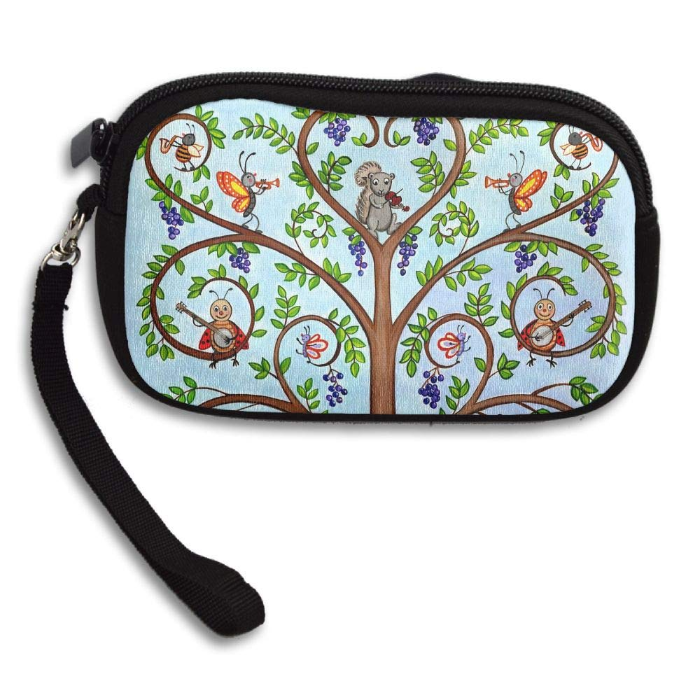 CMTRFJ Unisex Wallet for Woman Ladies -Animal's Family of Tree Purse Bag Men Gentlemen