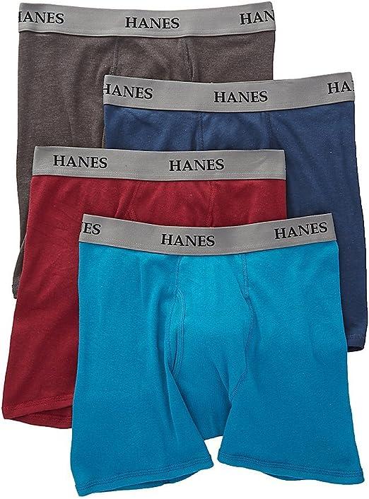 Hanes Platinum Core Assorted Boxer Briefs 4 Pack Y692F4