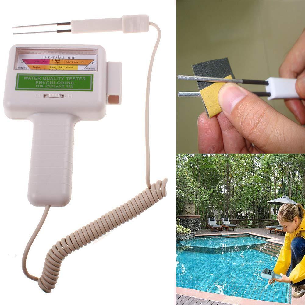 YOEDAF Swimming Pool Water Tester Portable Outdoor Spa Tester Detector PH Levels Chlorine Tester Meter Water Quality Measurement Monitor Checker for Swimming Pool, Spa Water, Water Spring