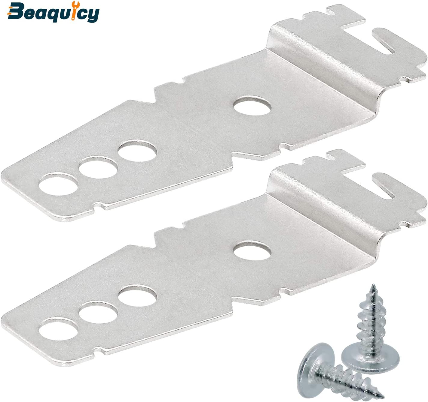8269145 2-Pack Undercounter Dishwasher Mounting Bracket Replacement with Screws by Beaquicy - Replacement for Whirlpool Kenmore Dishwasher