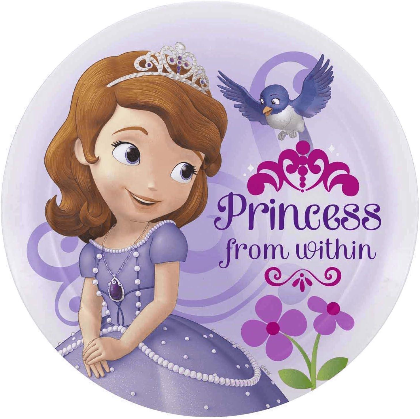 Amazon.com: Disney Zak Designs Princess Sofia The First 8 Inch Baby Toddler  Plate, BPA Free: Toys & Games