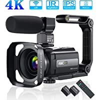 4K 60FPS Video Camera Camcorder Ultra HD 48MP YouTube Camera Vlogging WiFi Digital Camera Recorder IPS Touch Screen IR…