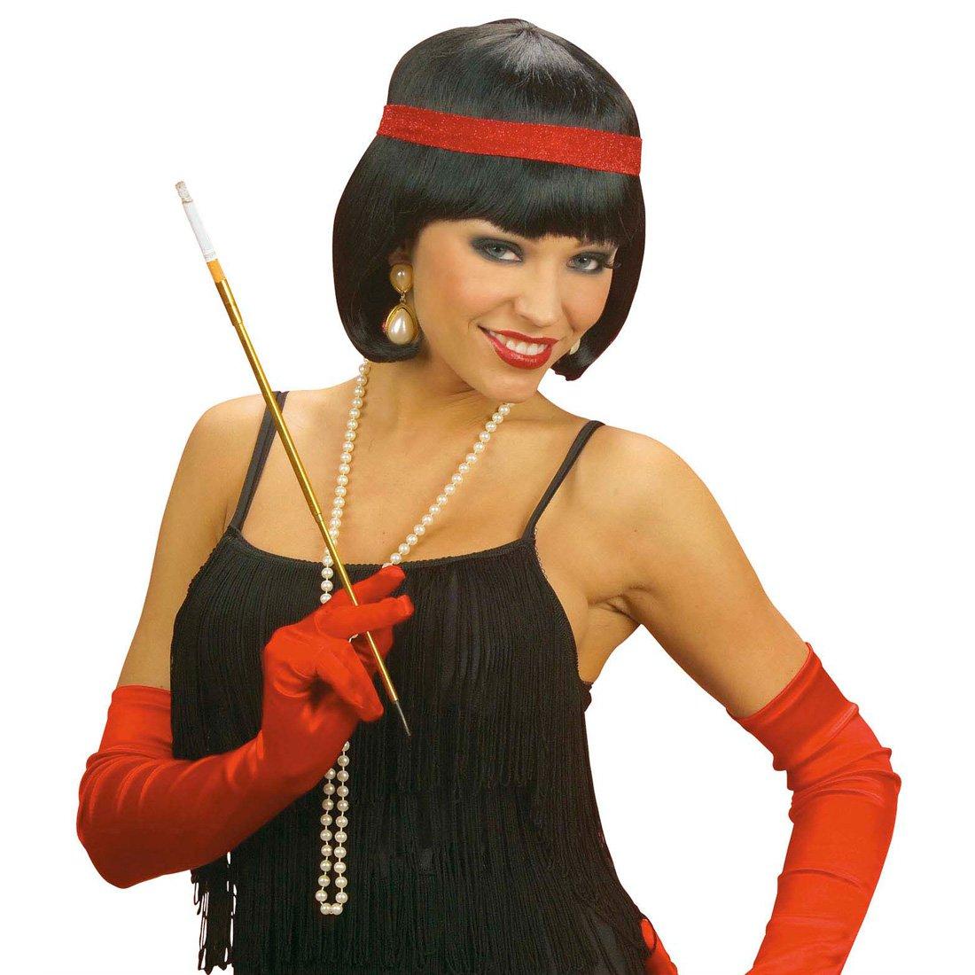Cinta de colour rojo de la peluca elegante Charleston 20er años de carnaval de la peluca de la peluca Karnevallsperücke señoras: Amazon.es: Juguetes y ...