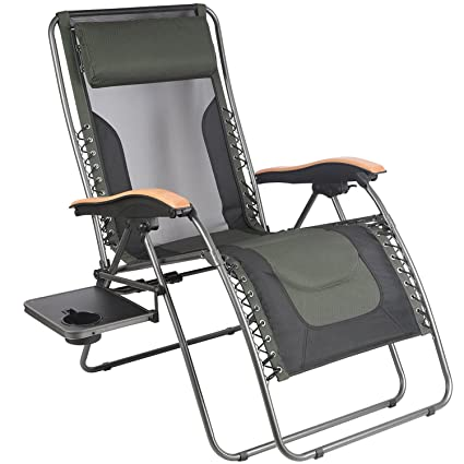 PORTAL Oversize Zero Gravity Recliner Chairs with Pillow and Cup Holder  Patio Lounger Chairs, Supported - Amazon.com : PORTAL Oversize Zero Gravity Recliner Chairs With