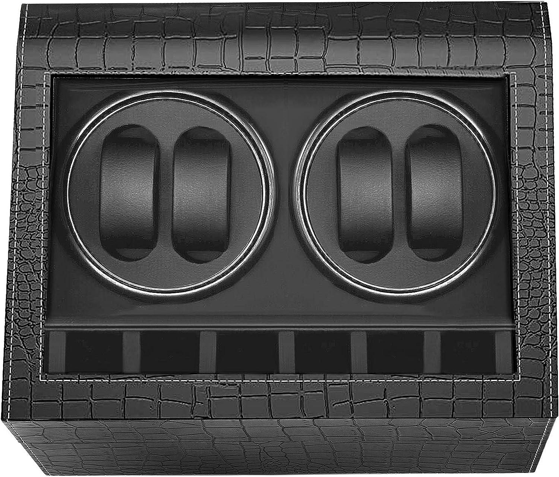 HBselect Caja Giratoria para Relojes Automaticos Silencioso Caja Relojes Automaticos (para 4+ 6 Relojes)