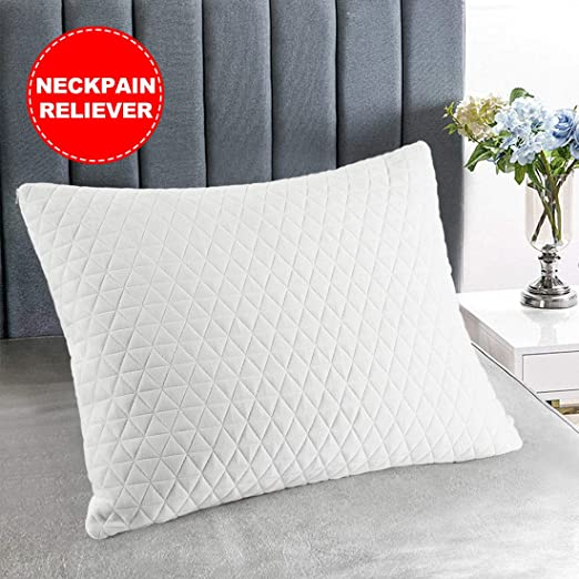 Pillow Gel Foam Light Weight Durable Washable Fabric Cover Scratch Resistant