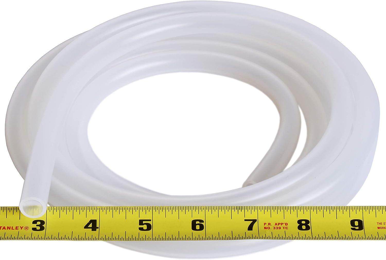 High Temp Kink-Free Hose Tube 500F Pure Silicone Tubing 3//8 ID x 1//2 OD 100 Feet