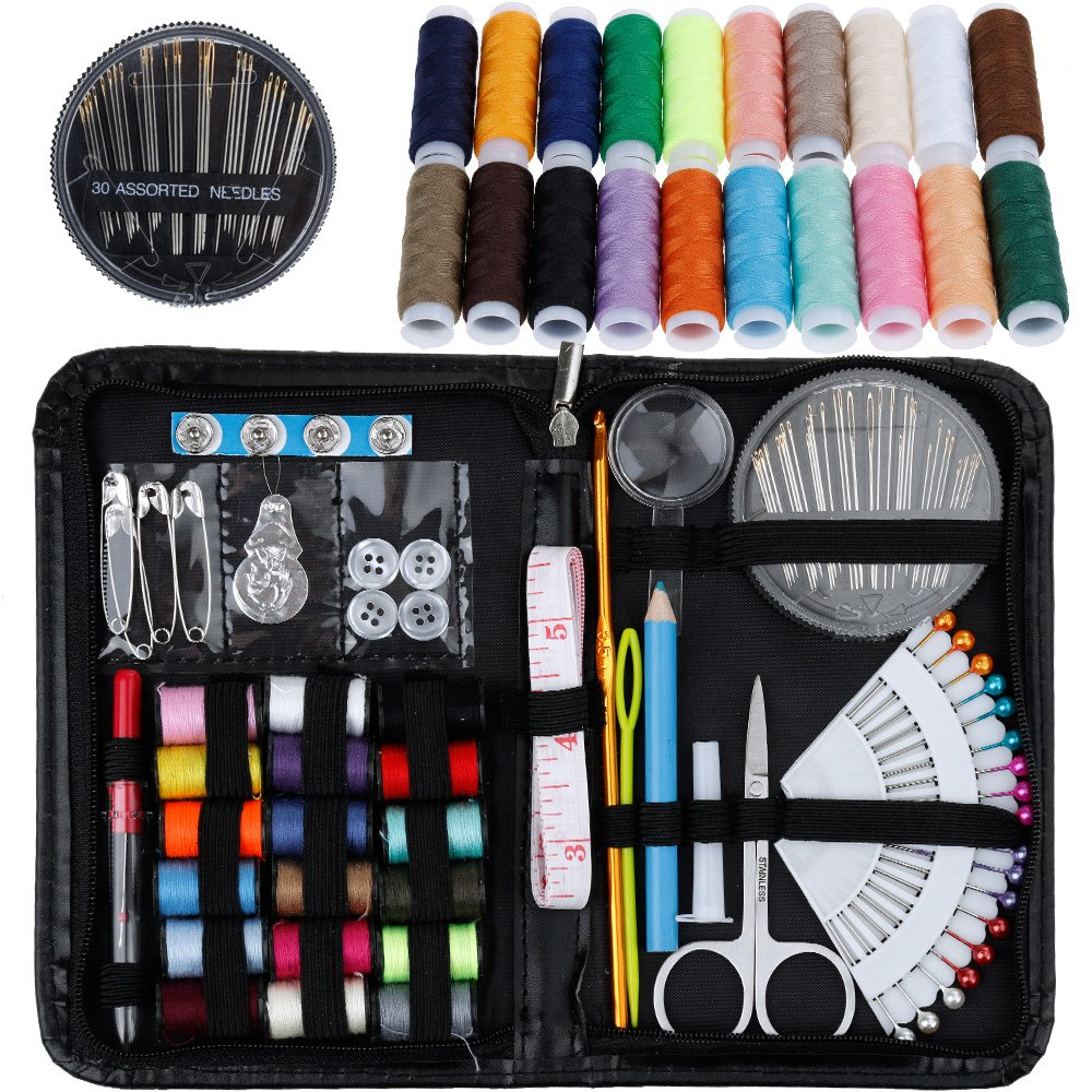 Rovtop Sewing Kit- Over 140 Premium Sewing Supplies – Includes 38 Spools of Thread and 1 pack of sewing needles (Count 30), Practical Mini Travel sewing kit, Beginners Sewing Kit, Emergency Sewing Kit 4337015756