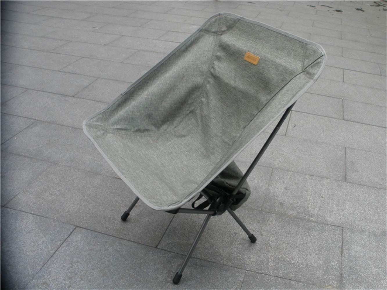 LMKIJN Bequemer Stuhl Tragbare Klapp Angeln Stuhl Recliner Camping Stuhl für Outdoor und Angeln (grau-grün) für den Urlaub