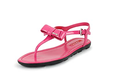 d41563f9bdac Prada Women s Patent Leather Flat Thong Sandals