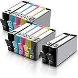 12 Inkfirst Compatible Ink Cartridges for HP 564 XL 564XL High Yield (4BK, 2PBK, 2C, 2M, 2Y) Photosmart 7510 7515 7520 7525 C