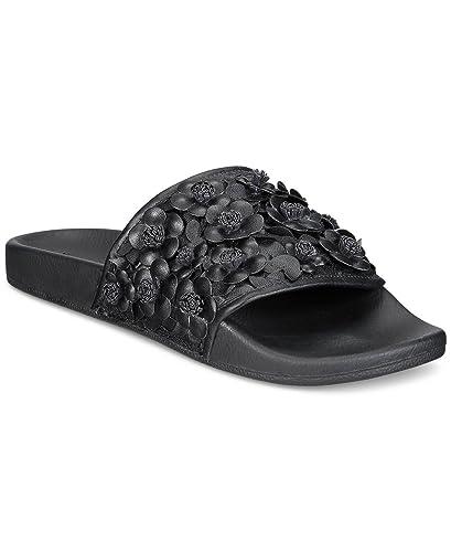 35270d5109c Avec Les Filles by Joyce Azria Stella Floral Embellished Slide (Black) Size  6