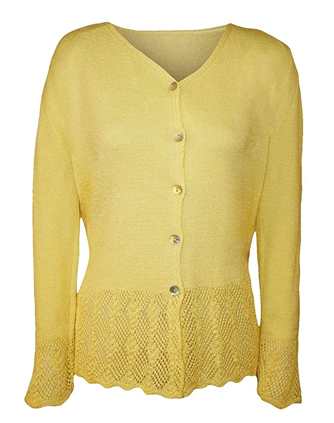 fd351b6cba3 Rimi Hanger Womens Long Sleeve Knitted Button Cardigan Top Ladies ...