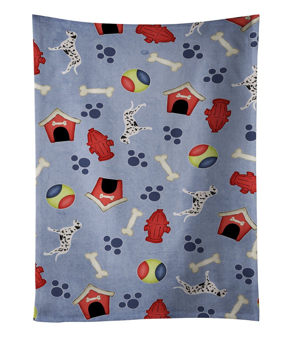 Caroline's Treasures BB3915KTWL Spanish Water Dog Dog House Kitchen Towel, 25' x 15', Multicolor