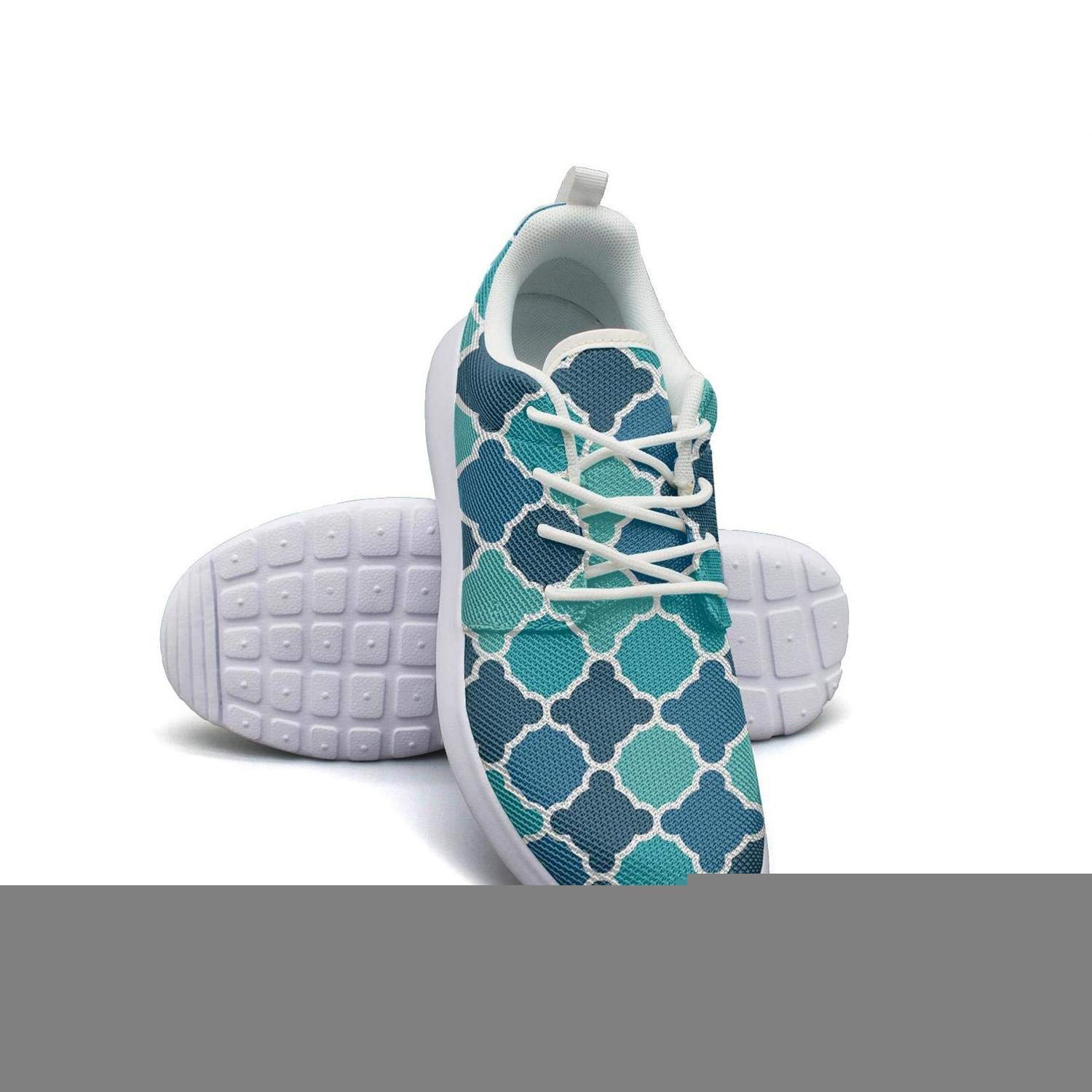 ERSER Lattice Fencing Mosaice Checkerboard Running Shoes for Plantar Fasciitis for Women