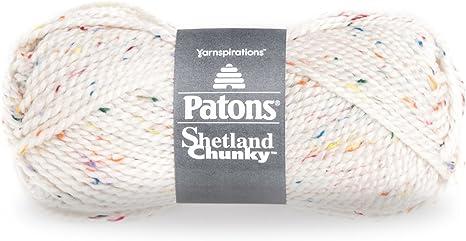 1 Ball 3 oz Patons Shetland Chunky Tweeds Yarn Toasty Tweed