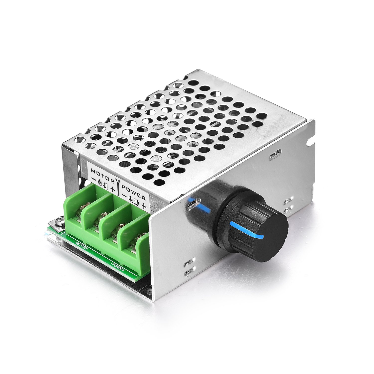 Aweking DC10-60V 12V 24V 36V 48V 10A Motor Speed Controller,PWM,Adjustable Driver,Max240W,With Switch potentiometer,10A Fues Overloading Protection,5%-100% Speed Controlling