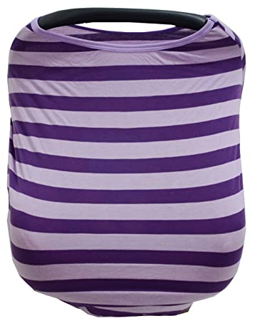 Summer Rainbow Multi Use Stretchy Unisex Baby Car Seat Canopy And Nursing Cover Purple