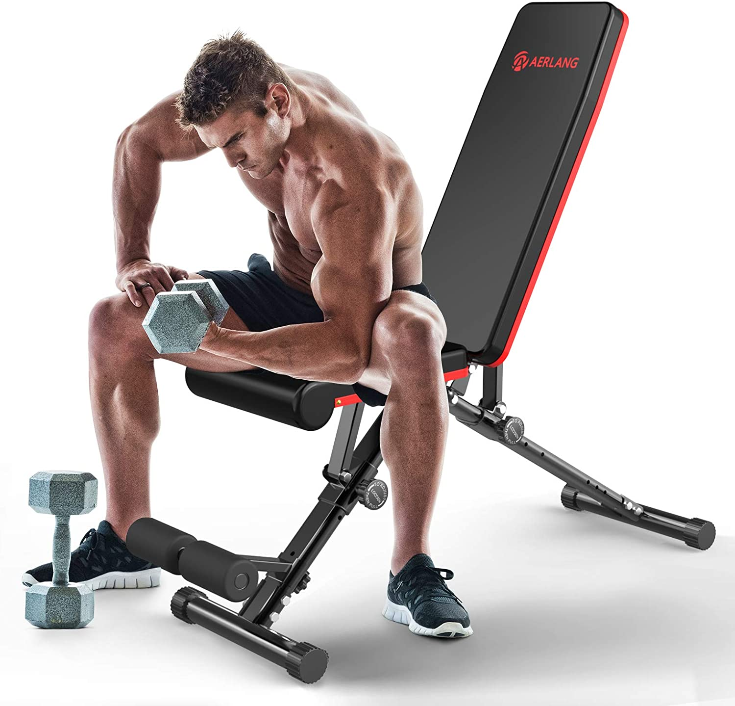 550lbs Adjustable Weight Bench Incline Decline Foldable Full Body Workout Gym US