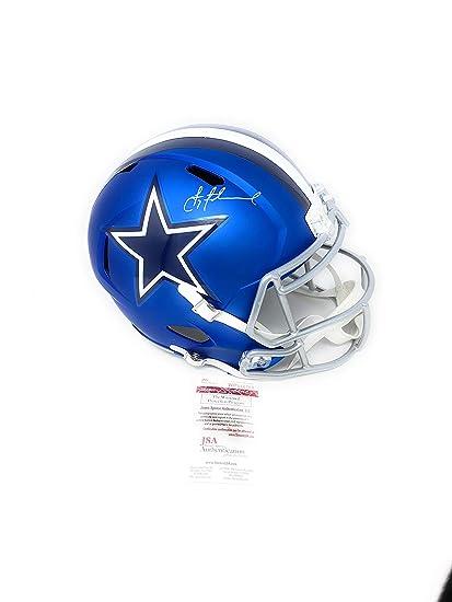 ea60374c1 Troy Aikman Dallas Cowboys Signed Autograph Blaze Speed Full Size Helmet  Aikman GTSM Holo JSA Witnessed