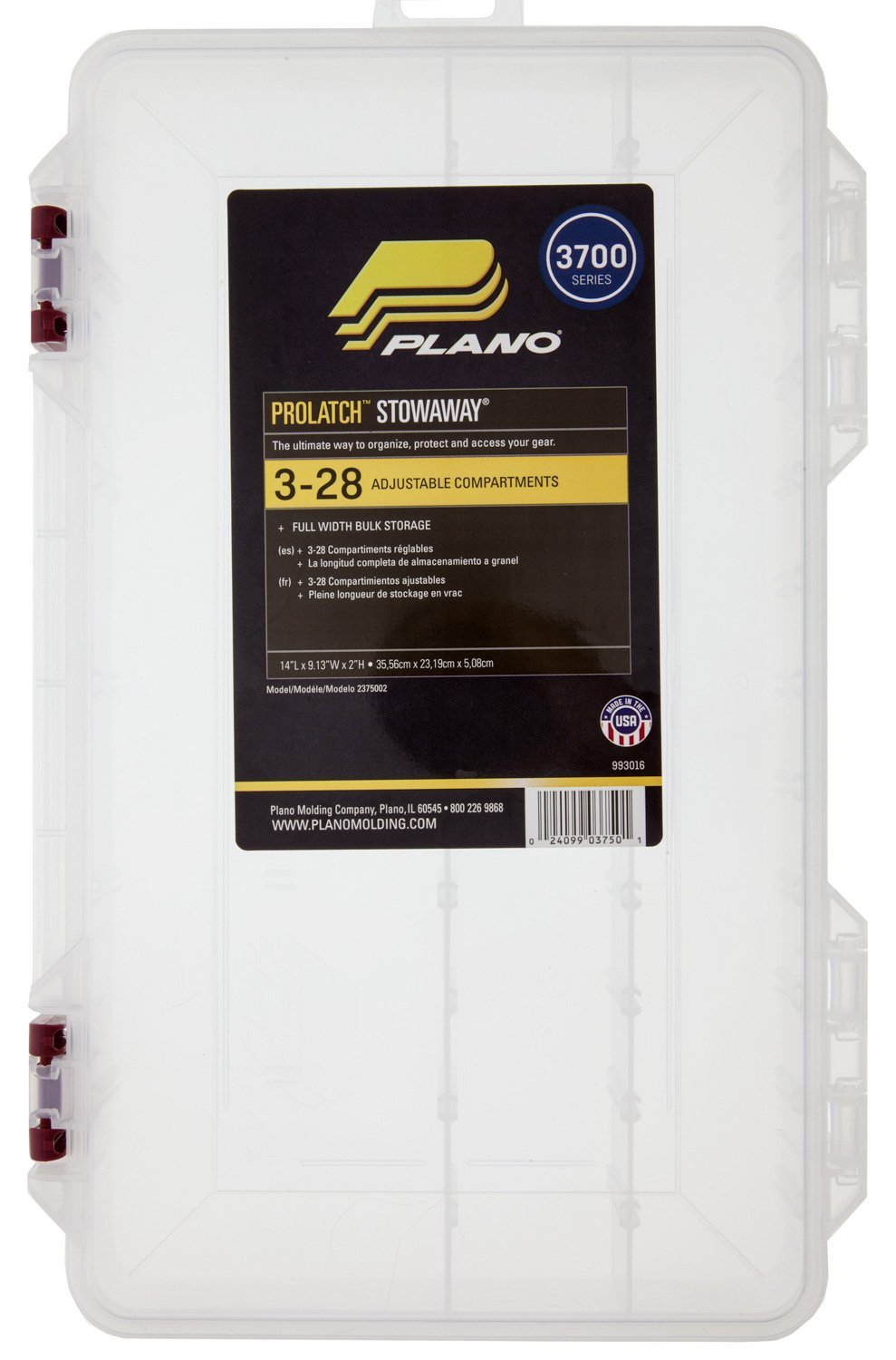 Plano 2375052 Stowaway with Adjustable Dividers and Inhibitor Chips by Plano