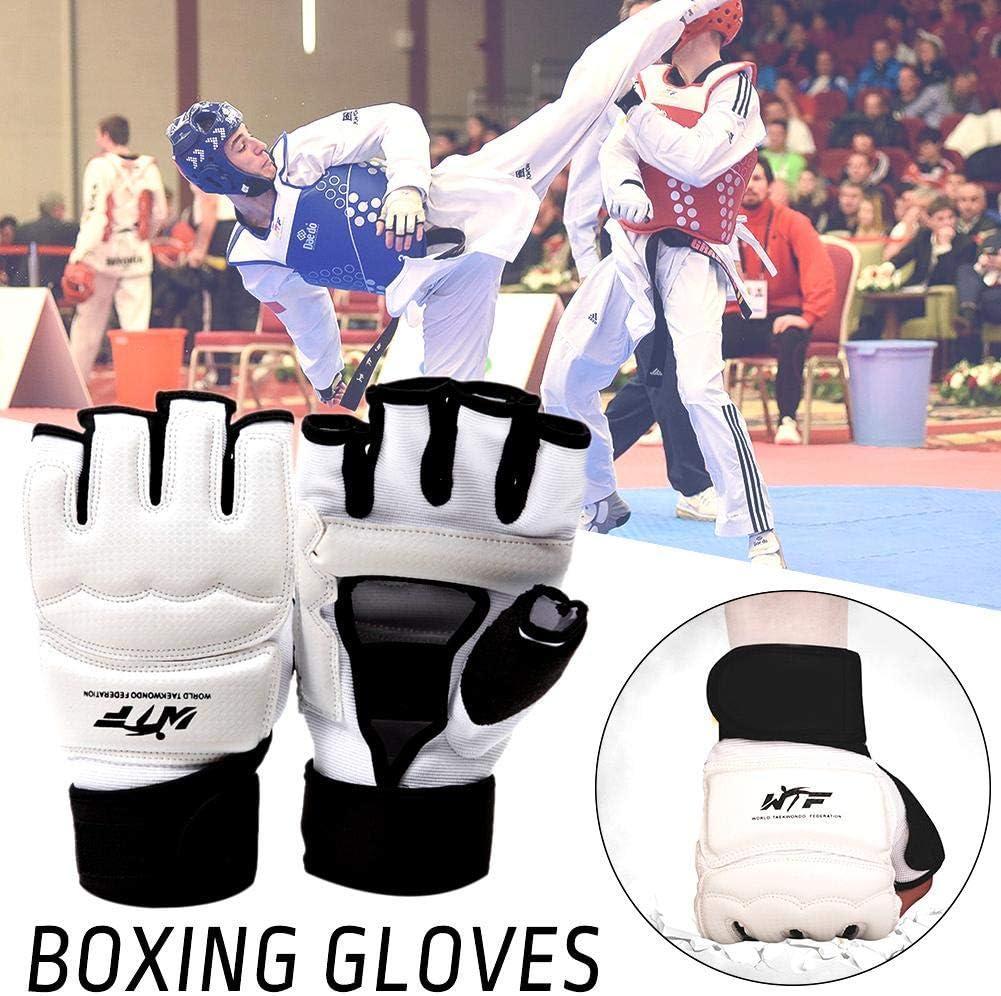 Currentiz Guantes de Taekwondo Boxeo Saco MMA Artes Marciales Punching Karate Taekwondo Entrenamiento Ni/ños Mujer Hombre S