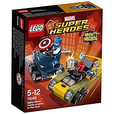 Lego Micro:Capt America/R Size Ea Lego Mighty Micro:Captain America Vs Red S 76065: Toys & Games