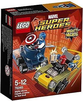 LEGO Marvel Super Heroes Mighty Micros: Capitán América vs. Cráneo Rojo - Juegos de construcción (Comics, Cualquier género, Multi): Amazon.es: Juguetes y juegos