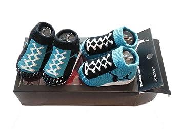 Nike Air Jordan bebé bebé niños patucos azul calcetines (0 - 6 meses): Amazon.es: Deportes y aire libre