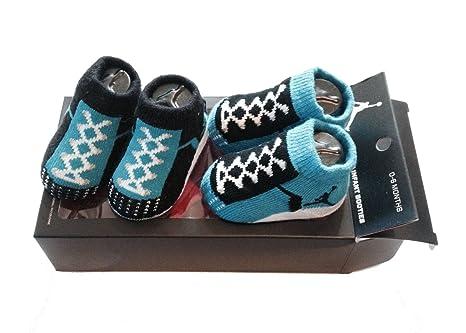 Nike Air Jordan bebé bebé niños patucos azul calcetines (0 - 6 meses ...