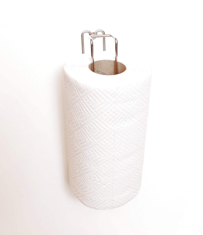 Plew Plew K/üchenpapierrollenhalter Edelstahl Wandmontage 30L x 3,5H x 8T cm K/üchenrollenhalter Papierhandtuchst/änder