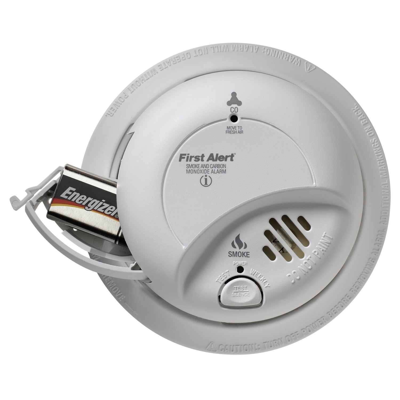 First Alert BRK Brands SC9120B Hardwire Combination Smoke/Carbon Monoxide Alarm with Battery Backup (2 Pack)