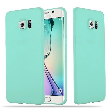 Cadorabo Coque pour Samsung Galaxy S6 Edge Plus en Candy Bleu – Housse  Protection Souple en 2df7a5a080c4