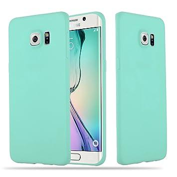 Cadorabo Funda para Samsung Galaxy S6 Edge Plus en Candy Azul – Cubierta Proteccíon de Silicona TPU Delgada e Flexible con Antichoque – Gel Case Cover ...