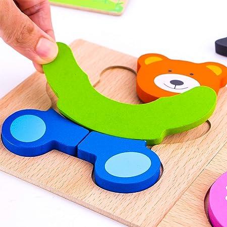 Afufu Juguetes Bebes, Puzzles de Madera Educativos para Bebé, Juguetes niños 1 año 2 3 4 5 6 años, Dibujo de Animal Colorido con Placa, Regalo de cumpleaños, Navidad