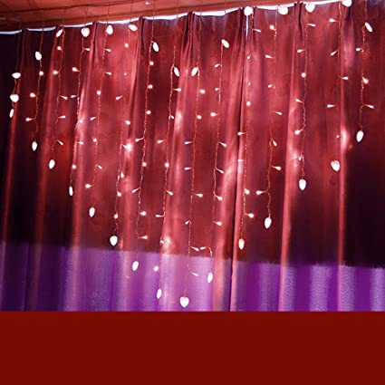 2m x 1,50m forme de coeur Chaîne LED Vacances lumière ...