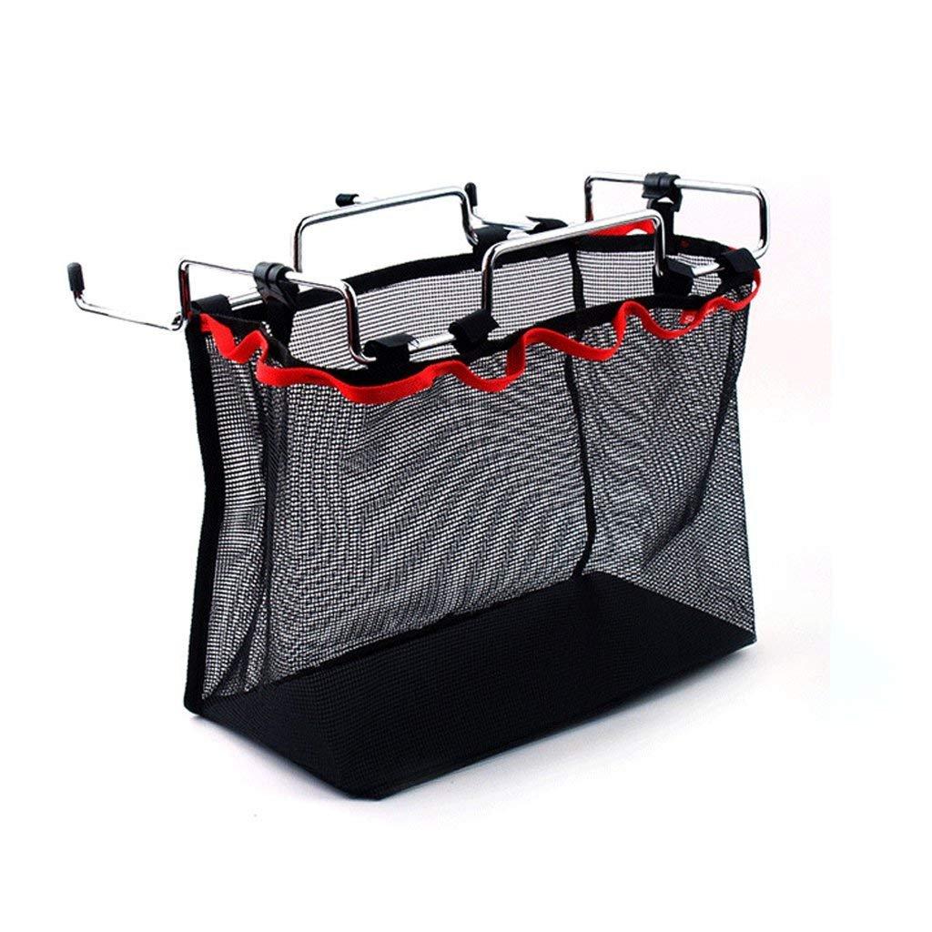 Maogolan Barbecue Tools Organizer Portable Big BBQ Storage Bag for Outdoor Camping Garden Picnic|Folding Mesh Hanging Bag Kitchen Storage Organizer Black (Size M)