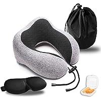T-Mark Pure Memory Foam Neck Travel Pillow Kit