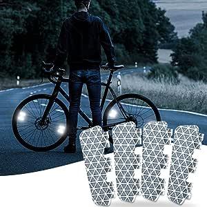Rear Set Bike Night Warning Plastic Plate Kit 54*39m Bicycle Reflectors Front