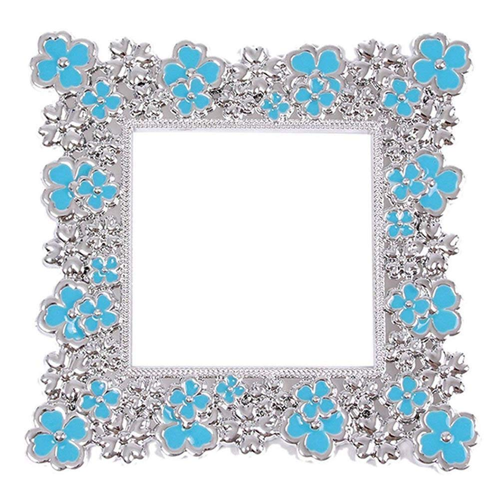 Blue Sunsline Colors Plastic Luxurious Flower Light Switch Stickers Cover Home Decoration Sticker