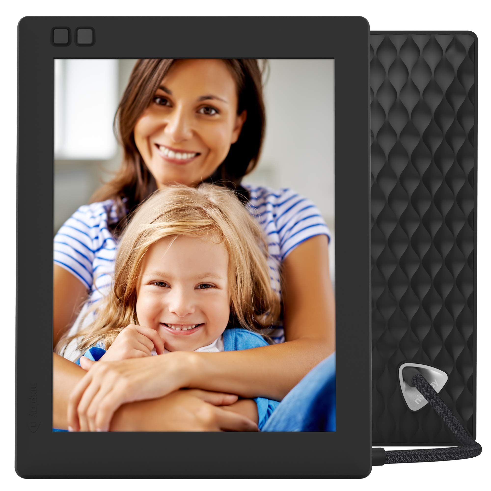 NIXPLAY Seed WiFi Digital Photo Frame 8 inch W08D, Black. Show Photos on Your Frame via Mobile App or Email. Display HD Pictures and Videos.