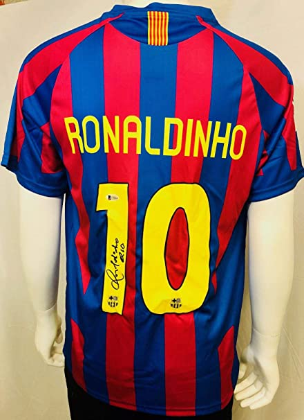 99be7745fa9 Ronaldinho Autographed Jersey - Barcelona Beckett BAS COA - Beckett  Authentication - Autographed Soccer Jerseys at Amazon's Sports Collectibles  Store