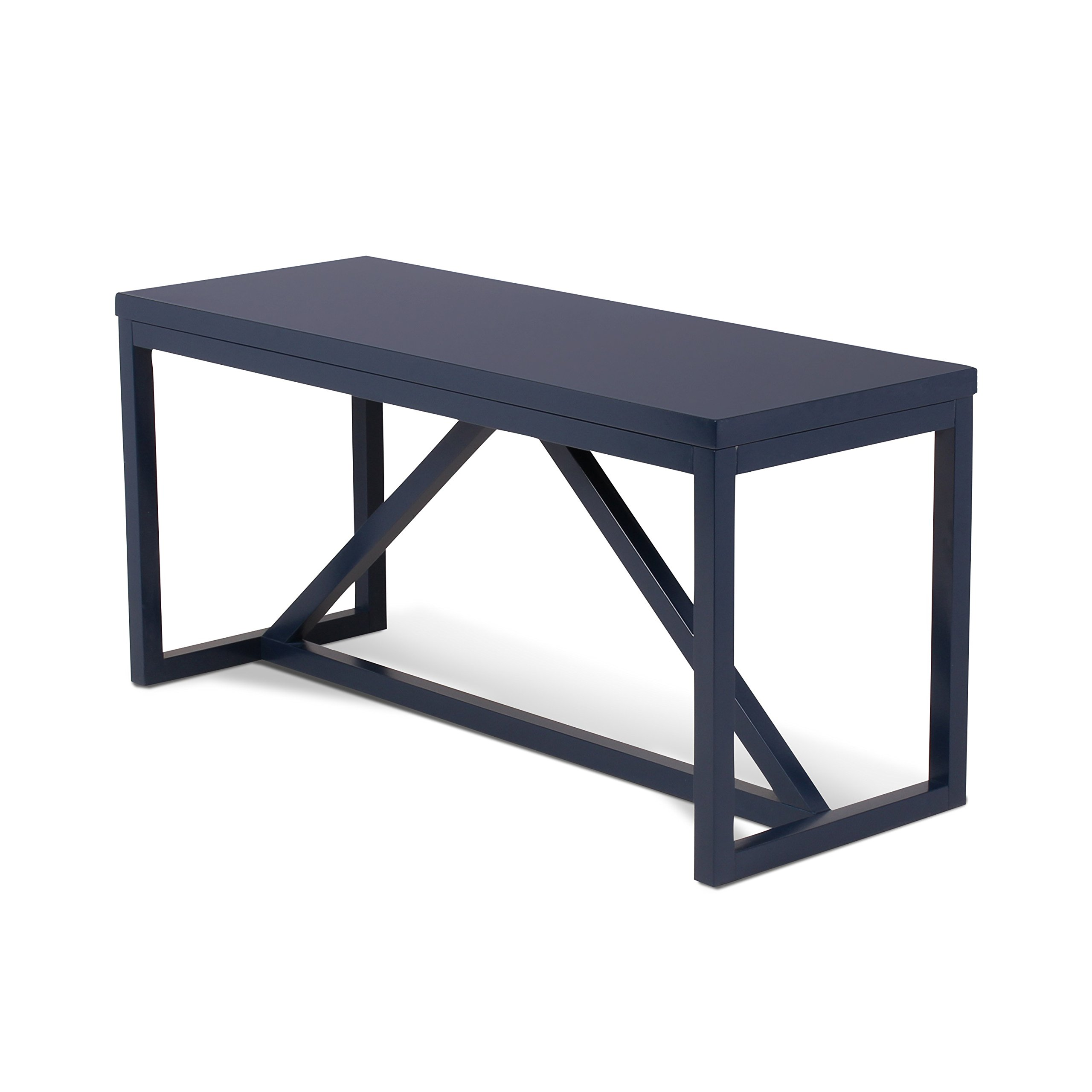 Kate and Laurel Kaya Wood Bench, Navy Blue by Kate and Laurel (Image #1)