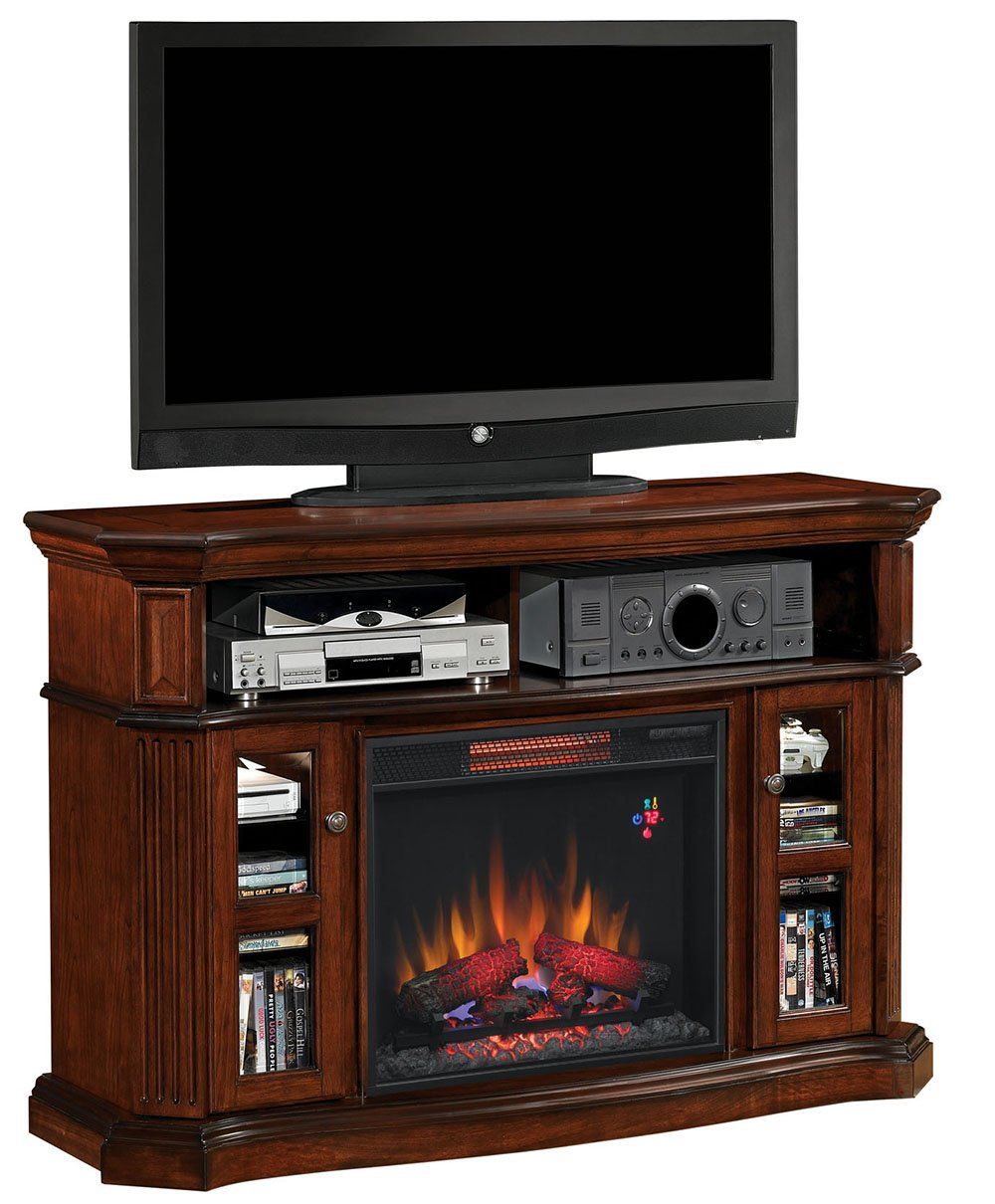 amazon com classicflame 23mm1297 c259 aberdeen tv stand for tvs