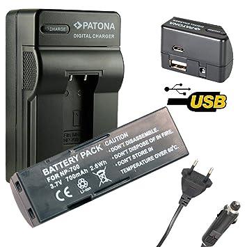 4en1 Cargador PATONA + Bateria para Konica Minolta NP-700 ...