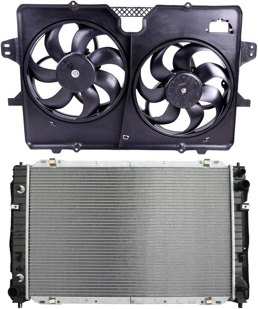 FINDAUTO Complete Radiator+Replacement Engine Cooling Fan Fits 2008 Ford Escape 2008 Mercury Mariner