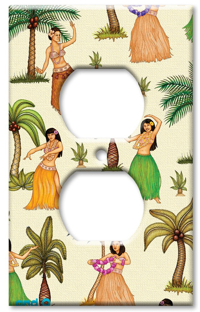 Art Plates - Outlet Cover OVERSIZE Switch Plate/OVER SIZE Wall Plate - Hula Girls by Art Plates (Image #1)